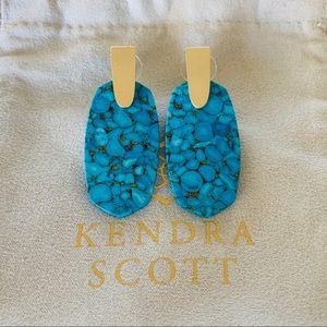 NWT Kendra Scott Bronze Veined Turquoise Aragon